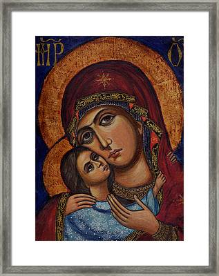 Holy Virgin With The Child Framed Print by Ketti Peeva