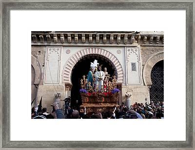 Holy Week Celebration In Cordoba Framed Print by Artur Bogacki