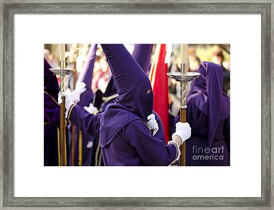 Holy Week In Spain Framed Print by Perry Van Munster