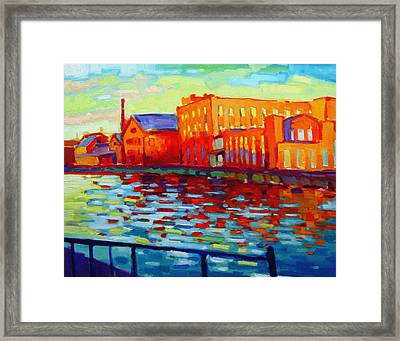 Holyoke Canal Framed Print by Caleb Colon