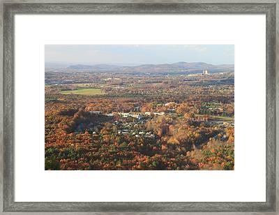 Holyoke Range Foliage View From Bare Mountain Framed Print by John Burk