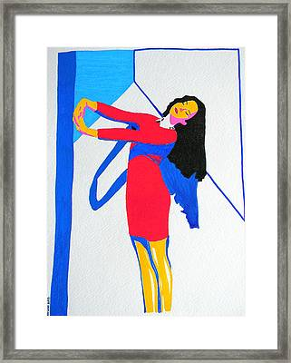 Homage To Carven Framed Print