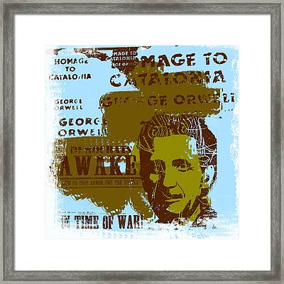 Homage To 'george Orwell' Framed Print by Jeff Burgess