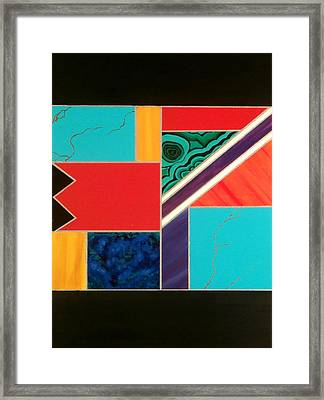 Homage To Inlay #1 Framed Print by Karyn Robinson