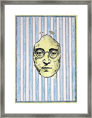 Homage To John Lennon  Framed Print by John  Nolan