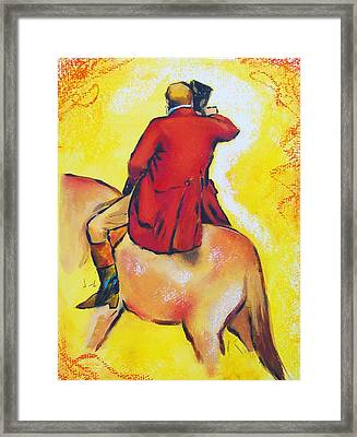 Homage To Master Degas The Horseman Framed Print by Susi Franco