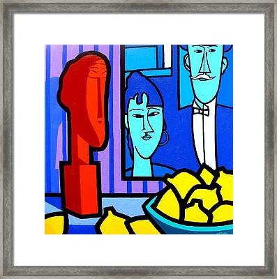 Homage To Modigliani Framed Print by John  Nolan