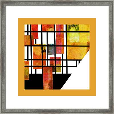 Homage To Mondrian Three Framed Print by Ann Powell