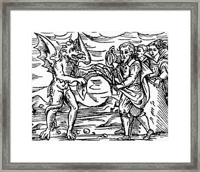 Homage To The Devil Framed Print