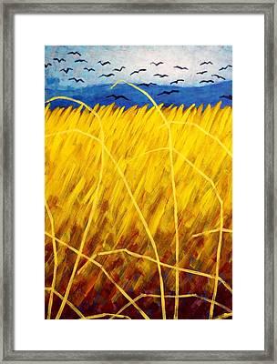 Homage To Van Gogh   Cropped Framed Print