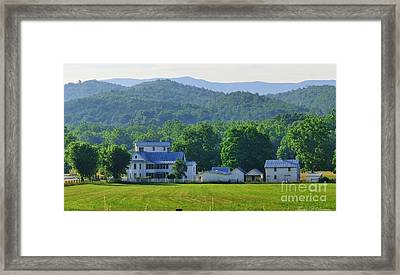 Homan Mill And Homestead Framed Print by Teena Bowers