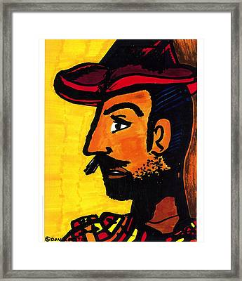Framed Print featuring the drawing Hombre by Don Koester