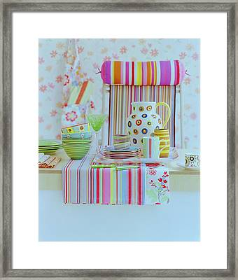 Home Accessories Framed Print by Romulo Yanes