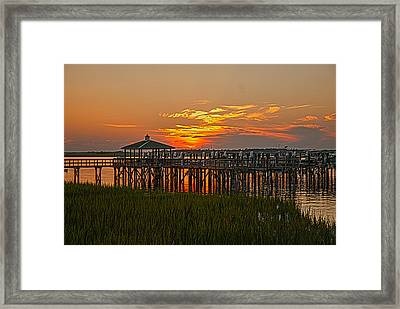 Home At The Dock Framed Print