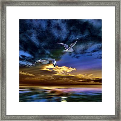 Home Before Nightfall Framed Print
