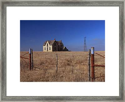 Home Behind The Gate Framed Print by Christopher McKenzie