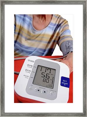 Home Blood Pressure Testing Framed Print by Aj Photo