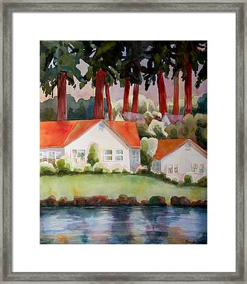 Home By The Lake Framed Print