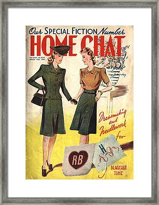 Home Chat 1940s Uk Women At War Make Framed Print by The Advertising Archives