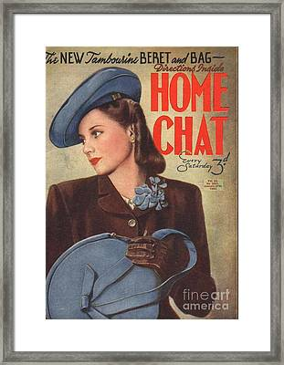 Home Chat 1940s Uk Womens Portraits Framed Print by The Advertising Archives