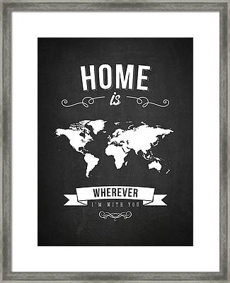 Home - Dark Framed Print