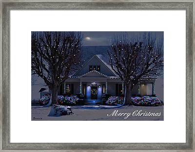Framed Print featuring the photograph Home For Christmas by Bonnie Willis