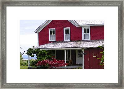 Home For Christmas On Willa Bay Framed Print by Glenna McRae