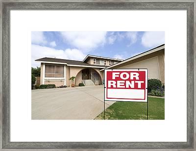 Home For Rent Framed Print by Joe Belanger