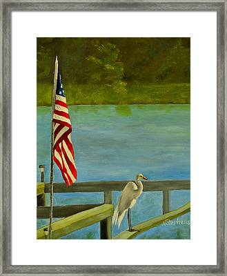 Home For The 4th Framed Print by Nina Stephens