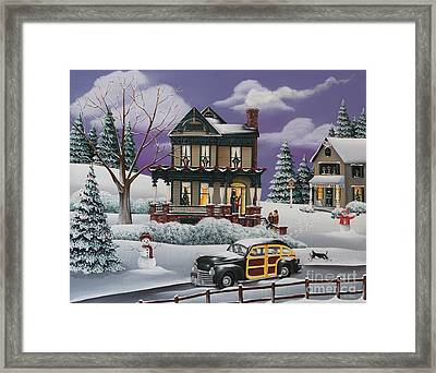 Home For The Holidays 2 Framed Print by Catherine Holman
