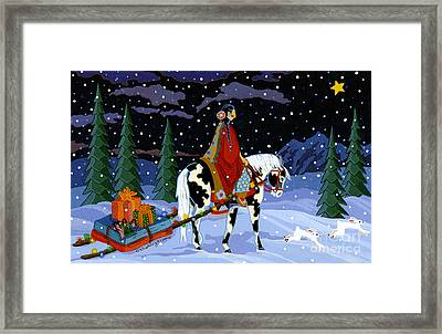 Home For The Holidays Framed Print by Chholing Taha