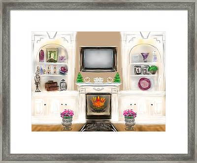 Framed Print featuring the digital art Home For The Holidays by Christine Fournier