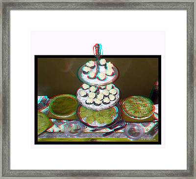 Home For The Holidays - Use Red-cyan 3d Glasses Framed Print by Brian Wallace