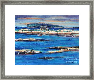 Home For The Storm Framed Print by Grace Liberator