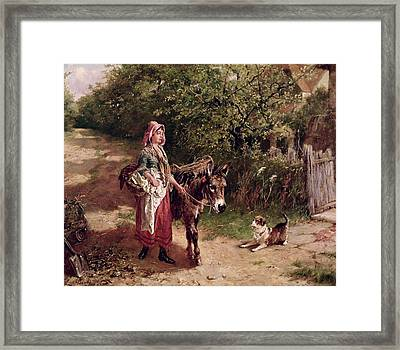 Home From Market Framed Print