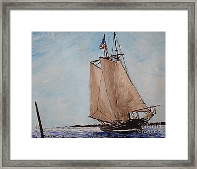 Home From The Banks Framed Print by Bill Hubbard
