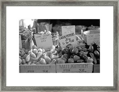 Home Grown In Black And White Framed Print