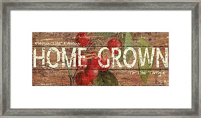 Home Grown Framed Print