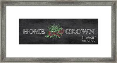 Home Grown On Blackboard Framed Print