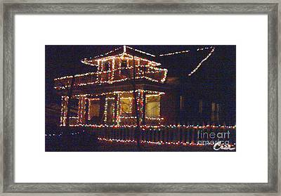 Home Holiday Lights 2011 Framed Print by Feile Case