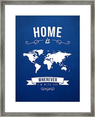 Home - Ice Blue Framed Print by Aged Pixel