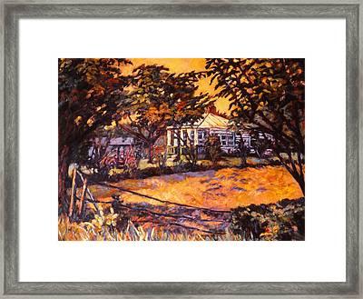 Home In Christiansburg Framed Print by Kendall Kessler
