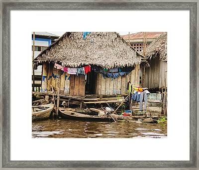 Home In Shanty Town Framed Print