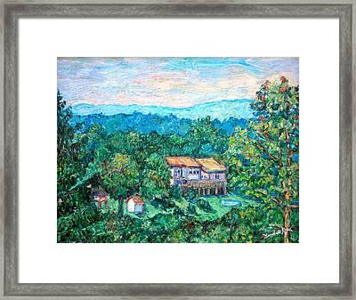 Home In The Hills Framed Print by Kendall Kessler