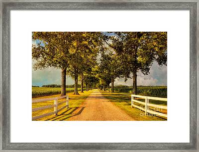 Home In Time For Supper Framed Print by Lois Bryan
