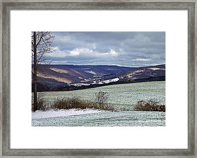 Home In Winter Framed Print