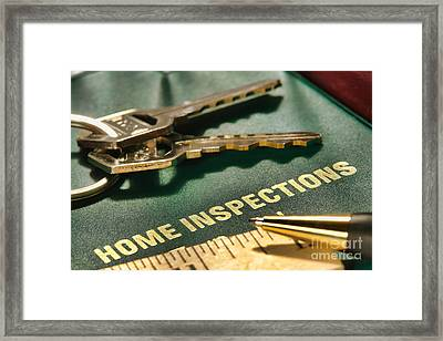 Home Inspections Framed Print by Olivier Le Queinec
