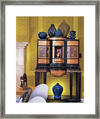 Home Interior With Antique Furniture Framed Print