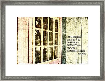 Home Is Framed Print