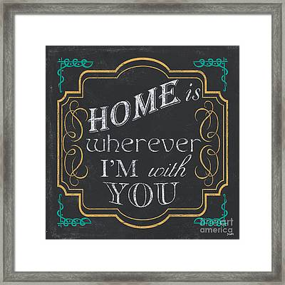 Home Is... Framed Print by Debbie DeWitt